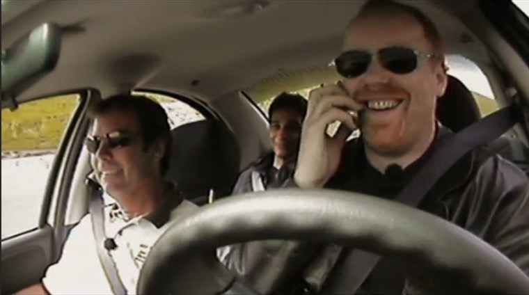 Mythbusters cell phone vs drunk driving mini myth